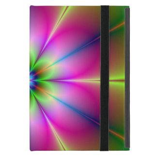 Protection iPad Mini Fleur au néon verte et rose