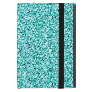 Protection iPad Mini Girly, parties scintillantes bleues d'Aqua