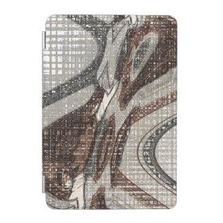 Protection iPad Mini Gris et art abstrait de Brown