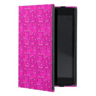 Protection iPad Mini Motif de coeurs de rose rose