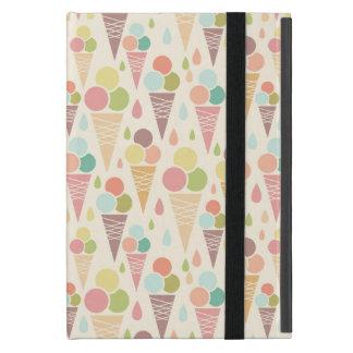 Protection iPad Mini Motif de cornets de crème glacée