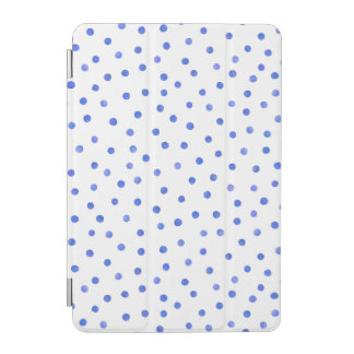 Protection iPad Mini Motif de points bleu et blanc de confettis
