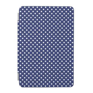 Protection iPad Mini Motif de pois de bleu marine et de blanc