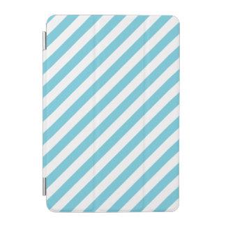 Protection iPad Mini Motif diagonal bleu et blanc de rayures