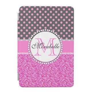 Protection iPad Mini Parties scintillantes roses et pois rose sur le