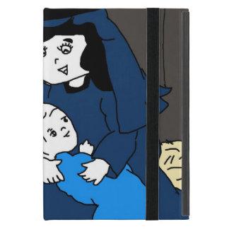 Protection iPad Mini Petits Mary et Jésus dans les bleus