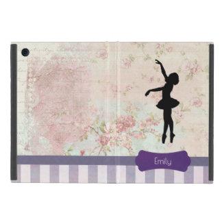Protection iPad Mini Silhouette de ballerine sur le motif vintage