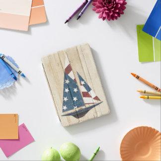 Protection iPad Mini Voilier avec le drapeau américain