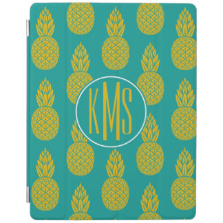 Protection iPad Monogramme du fruit tropical | d'ananas