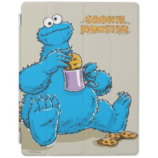 Protection iPad Monstre vintage de biscuit mangeant des biscuits