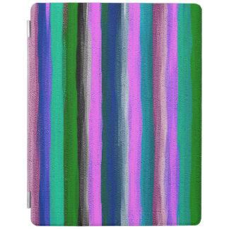 Protection iPad Motif abstrait #10 de rayures d'aquarelle