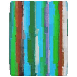 Protection iPad Motif abstrait #3 de rayures d'aquarelle
