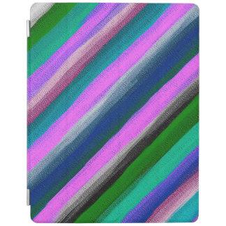 Protection iPad Motif abstrait #8 de rayures d'aquarelle