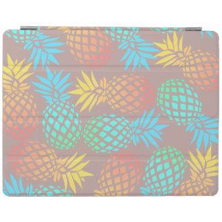 Protection iPad motif coloré tropical d'ananas d'été élégant