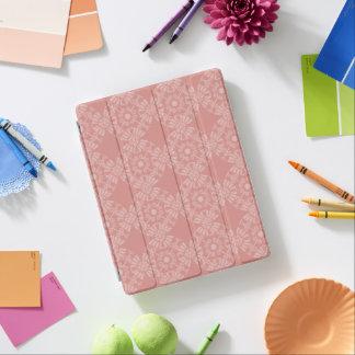 Protection iPad Motif floral rose poussiéreux