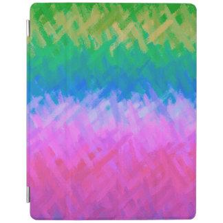 Protection iPad Motif pourpre vert abstrait d'aquarelle