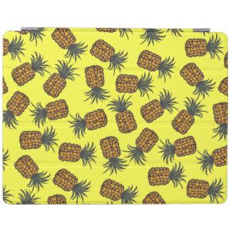 Protection iPad motif tropical peint à la main coloré d'ananas
