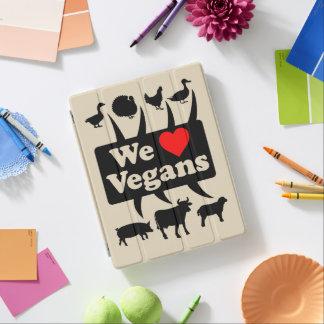 Protection iPad Nous aimons des végétaliens II (le noir)