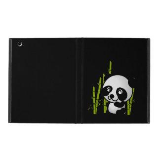 Protection iPad Ours panda noir et blanc mignon dans un verger en