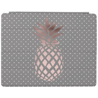 Protection iPad pois rose d'ananas d'or de poussin élégant