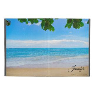 """Protection iPad Pro 9.7"""" Coutume tropicale pittoresque de sable et de surf"""