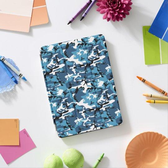 Protection iPad Pro Bleu Camo d'hiver