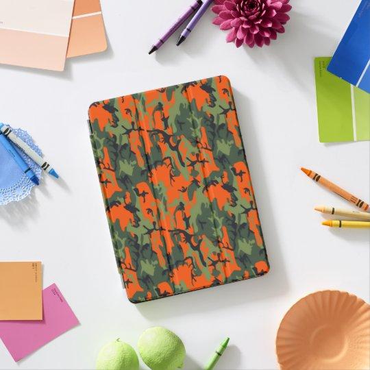 Protection iPad Pro Camo orange et vert de sécurité
