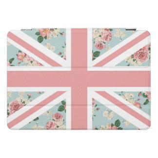 Protection iPad Pro Cover Drapeau anglais d'Union Jack de roses