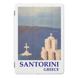 Protection iPad Pro Cover Rétro affiche de Santorini Grèce