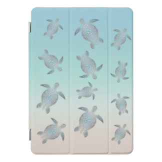 Protection iPad Pro Cover Style argenté de plage de tortues de mer