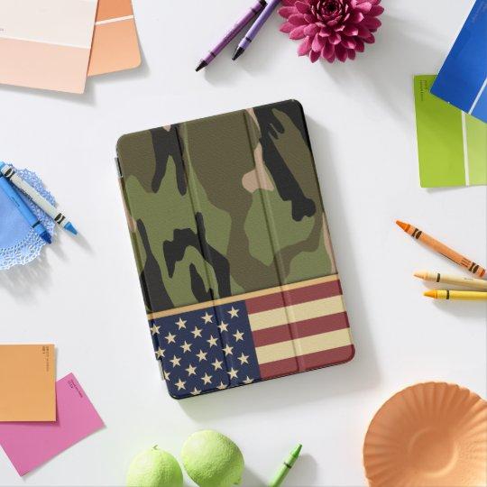 Protection iPad Pro Drapeau américain Camo
