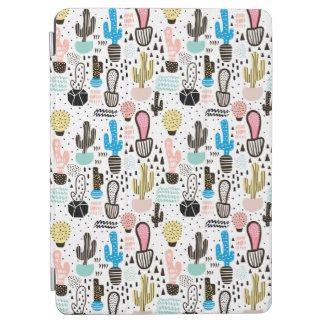 Protection iPad Pro Motif géométrique de cactus moderne