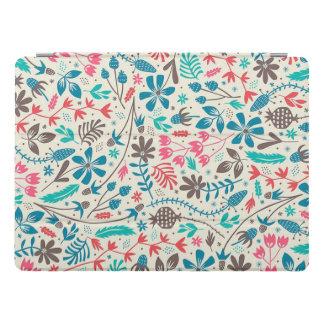Protection iPad Pro Pro couverture de rétro iPad floral de motif