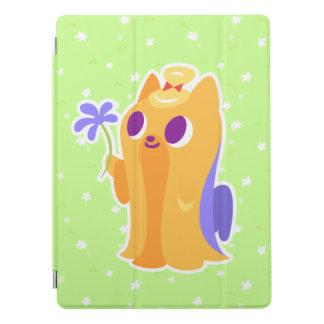 """Protection iPad Pro """"Une fleur pour vous"""" Kawaii aux cheveux longs"""