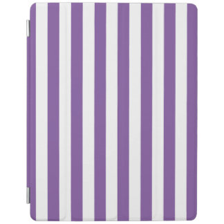 Protection iPad Rayures pourpres verticales