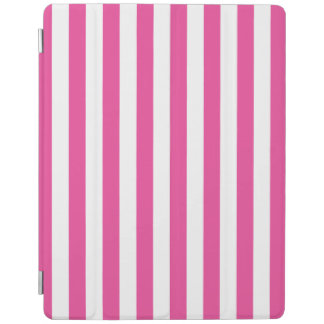 Protection iPad Rayures verticales roses