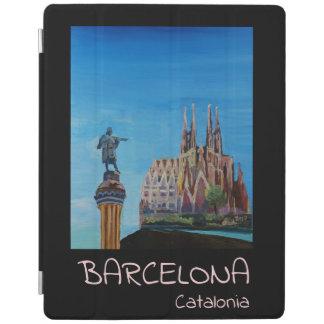 Protection iPad Rétro affiche de Barcelone Espagne