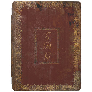 Protection iPad Vieille couverture de livre victorienne en cuir de