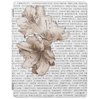 Protection iPad Vous êtes ma fleur de Brown de café d'inspiration