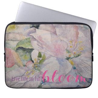 Protection Pour Ordinateur Portable Art floral d'aquarelle de citation d'inspiration