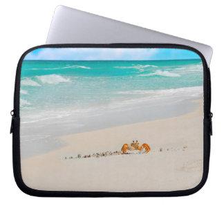 Protection Pour Ordinateur Portable Belle plage avec le crabe