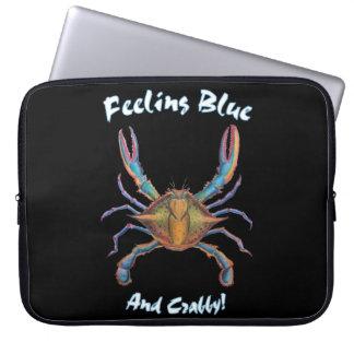 Protection Pour Ordinateur Portable caisse d'ordinateur portable de crabe bleu