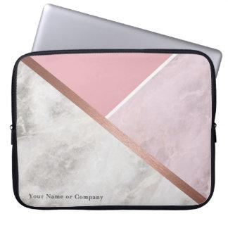 Protection Pour Ordinateur Portable Caisse rose personnalisée d'ordinateur portable de