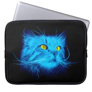 Protection Pour Ordinateur Portable Chat bleu