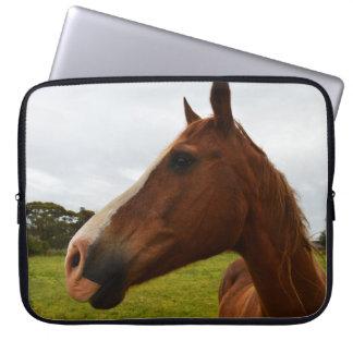 Protection Pour Ordinateur Portable Chocolat de cheval de châtaigne,