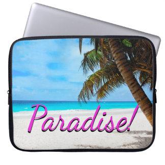 Protection Pour Ordinateur Portable Ciel, plage, palmiers - paradis !