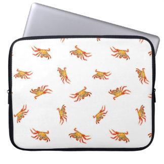 Protection Pour Ordinateur Portable Conception de motif de collage de photo de crabes