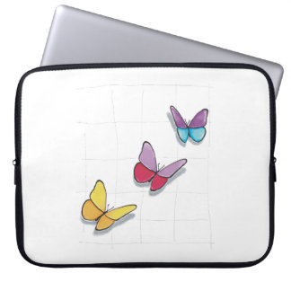 Protection Pour Ordinateur Portable Couche Papillons Coloriés 3D