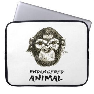 Protection Pour Ordinateur Portable Couche Singe - Animal dans danger d'extinction