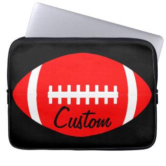 Protection Pour Ordinateur Portable Coutume rouge de joueur de football américain,